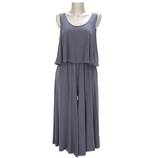 Adult sleeveless wide pants all-in-one <charcoal>