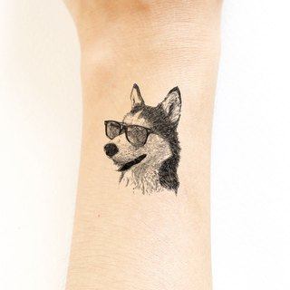 - Siberian Husky Temporary Tattoo (Cool face) -