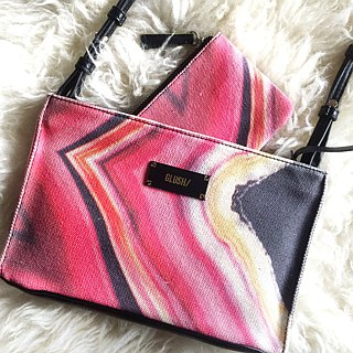 HARD SWIRLS Pink Stone Crossbody (removable strap)