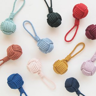 Handmade vintage color rope knot key ring charm bag hanging ornaments 11 colors optional