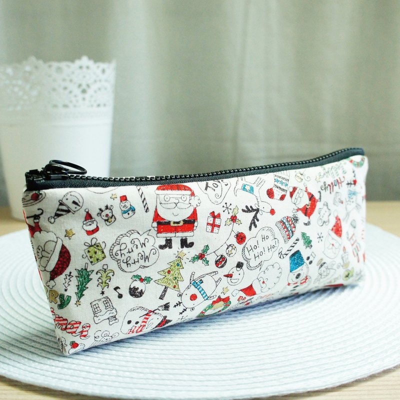 Lovely [Japanese cloth order] happy Christmas pencil case, tool bag, rice