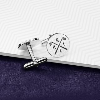 Sport Cufflinks personalized - Golf Cufflinks  - 925 Sterling Silver