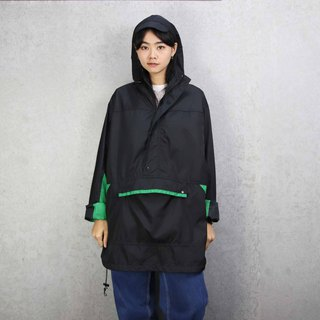Tsubasa.Y ancient house 005 black and green half pull windbreaker, windbreaker windproof outdoor