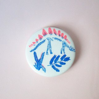 Sword dragon Risograph hole printed badge (new version)