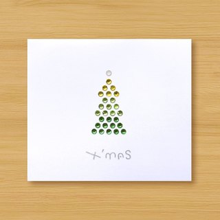Hand-studded card _ Christmas tree _A ... Christmas card, Christmas
