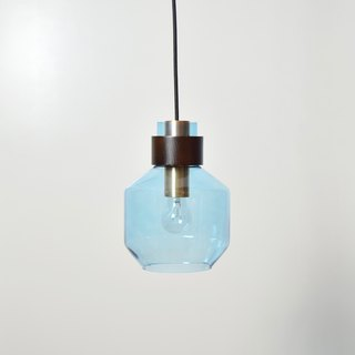 Water Blue Wide Bottle Shape Pendant -BNL00122