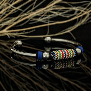 Aiko Bead with 4mm Stainless Steel Bangle Peyote-9