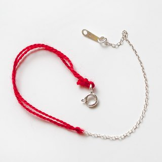 "Sterling silver 925 sterling silver mixed with classic Mianorao red line ultra-fine bracelet ""small chain club"" BSV042"