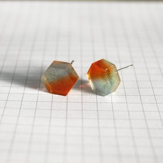 Resin Earrings / 213 / Vertical Storm - Single Stud
