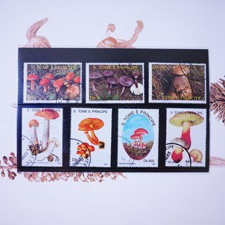 Vintage mushroom stamps around the world 2