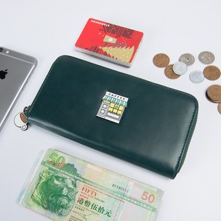 KIITOS met series of original multi-functional leather studs leather wallet - coffee shop models