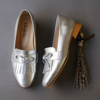 【Jupiter】  tassel Loafer shoes - silver