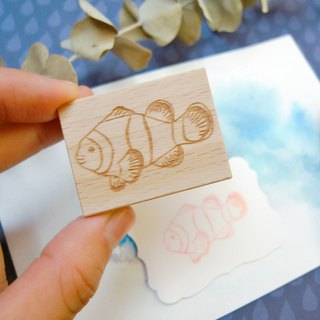 Clownfish Rubber Stamp