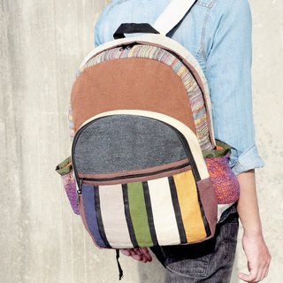 After a limited edition hand-stitching design backpack / shoulder bag / BOHO mountaineering bag / travel bag - color national wind splicing Forest travel