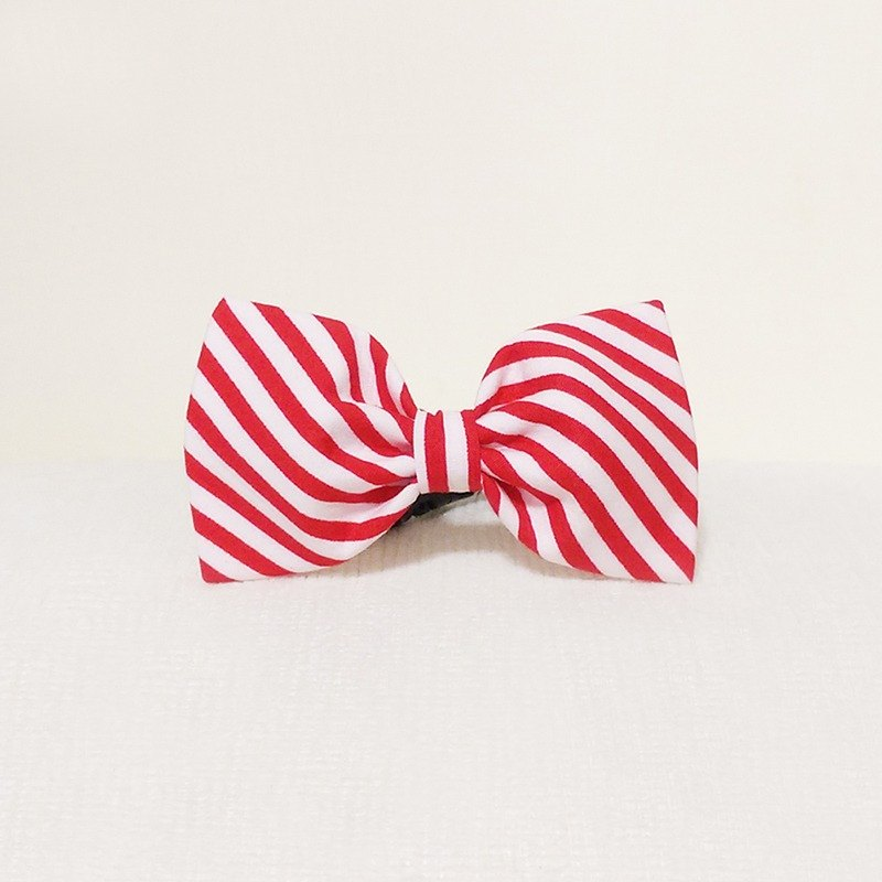 Ella Wang Design Bowtie Pet Bow Tie Bow Red and White Gentleman