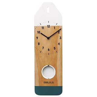 Polzeath - Pencil Silent Swing Clock Wall Clock (Blue Green)