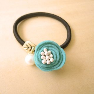 RARAPUPU flowers pearl hair ring water green