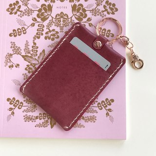 Bloom leather ticket card set / / Wisteria
