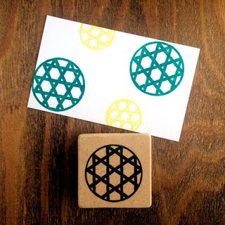 Easy to use round type Japanese pattern eraser rubber (bamboo)
