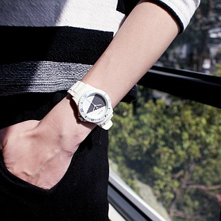 【PICONO】Black & White Sport Watch - white / BA-BW-02