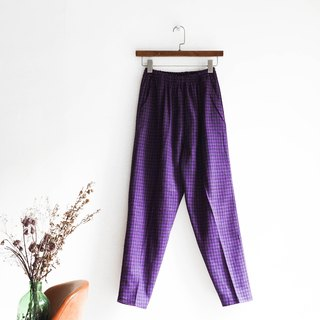 River water - Kyoto mysterious purple small fine grain rock logs antique cotton AB narrow pants tight trousers pants vintage