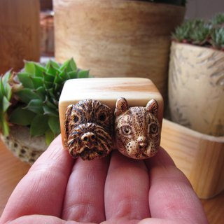 Custom pet portraits, animal carving, wood box sculpture, miniature art