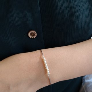 【Trivial things】Small pearl sterling silver Bracelet