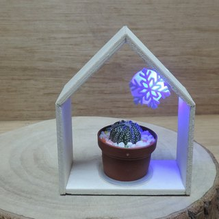 Art Tree House Snowflakes Falling Succulents [Winter Limited]