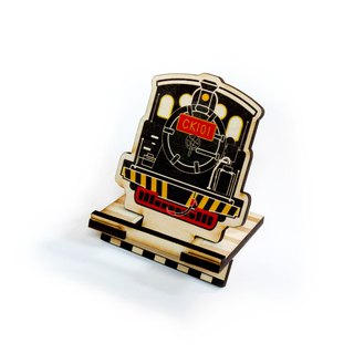 Taiwan Railway Steam Train CK101 × Ray Wood DIY Mobile Phone Stand [Work hard. For that trip on the railway. 】Card Holder × Note Paper × Office cash register utility