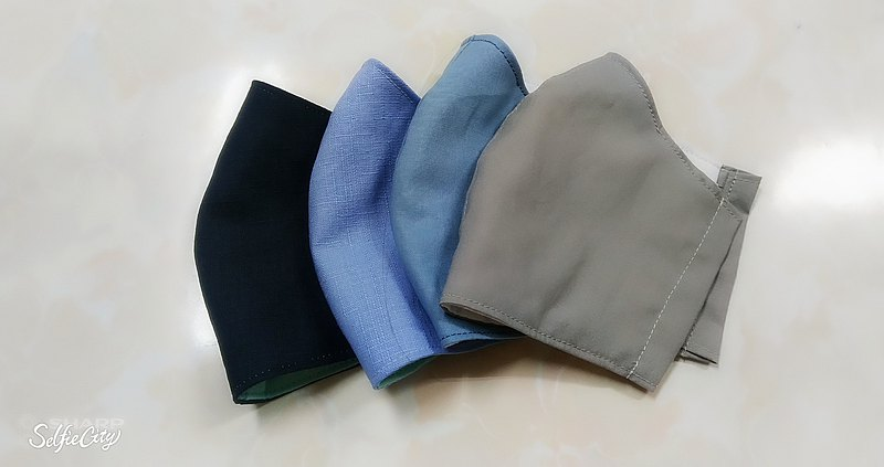 素面素色立體式-棉質口罩套 口罩(多色可選)