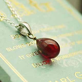 Glass drop Petit pendant cherry red