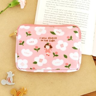 Jennifer Flower Card Wallet 01. Pink