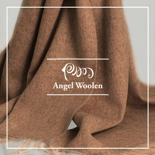 [Angel Woolen] 100% Wool Classic Thick Woven Warm Lamb Wool Shawl Scarf (5 colors)