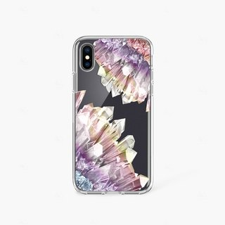 Crystal Print Phone Case iPhone 7 Case Clear Rubber iPhone 8 Case iPhone 7 Plus