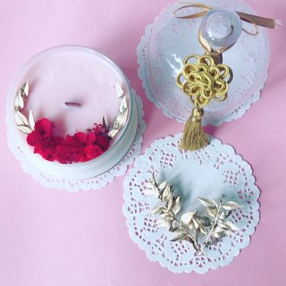New Year pure natural soy candles / home decorations / gifts / dry flowers