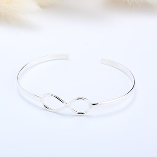 LOVE Infinity simple love s925 sterling silver bracelet Valentine's Day Gift