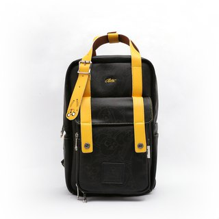 RITE X Adventure Treasure [Twin Series] Advanced Edition - Roaming Backpack - Leather Black x Yellow (中)
