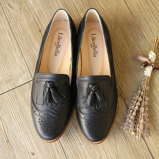 【Old Bridge Story】 Brogues Loafer shoes-Black