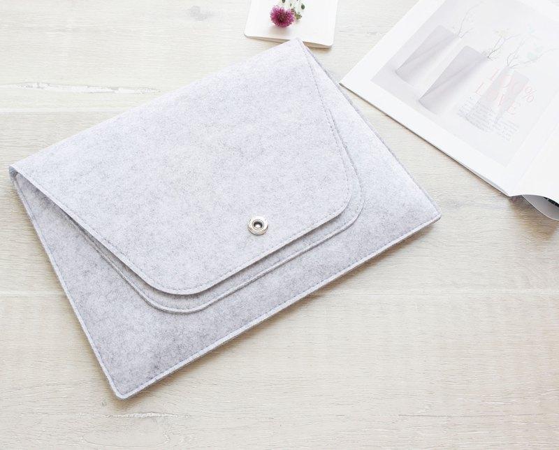 淺灰色 微軟 電腦保護套 筆電包 電腦包 毛氈包 Surface Book 088
