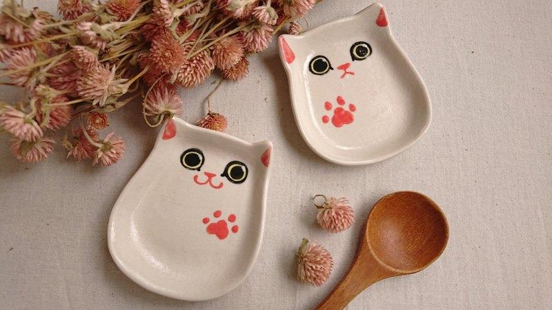 Hey!鳥朋友!迷你蛋貓造型碟-白貓貓