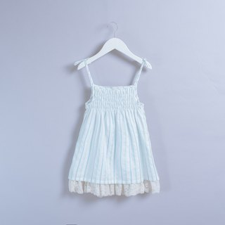 Slipdress - Blue crystal non-toxic children's wear suspenders cotton skirt
