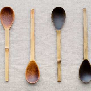 Bamboo spoon wipe lacquer raw lacquer (Brown) | black lacquer
