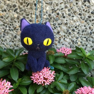 BLUE WORLD, Japan Blue Cat Fluff Doll Charm (10CM) _Blue BW1511101