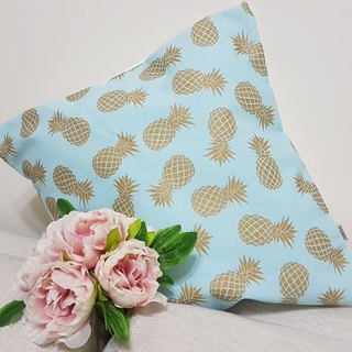 Scandinavian style fresh pink blue gold pineapple pillow / pillow