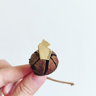 Geometric brass earrings (single side)