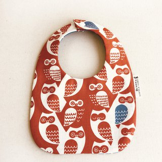 Double-sided bib - owl