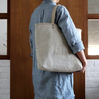 Linen AlphaBAG customized letter hand craft linen tote bag