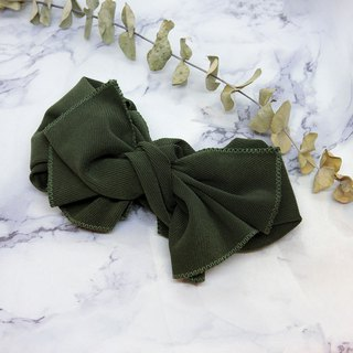 [Shell Arts] Giant Butterfly Ribbon (Olive Green Japanese thick thread thread) - The whole can be disassembled!