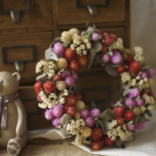 {Fleurir blossoming time} give you a little sweet fruit wreath / dry flower / outdoor wedding / hand dry flowers / wedding small objects / customization