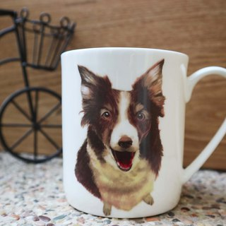Bone China Mug - Butterfly Dog